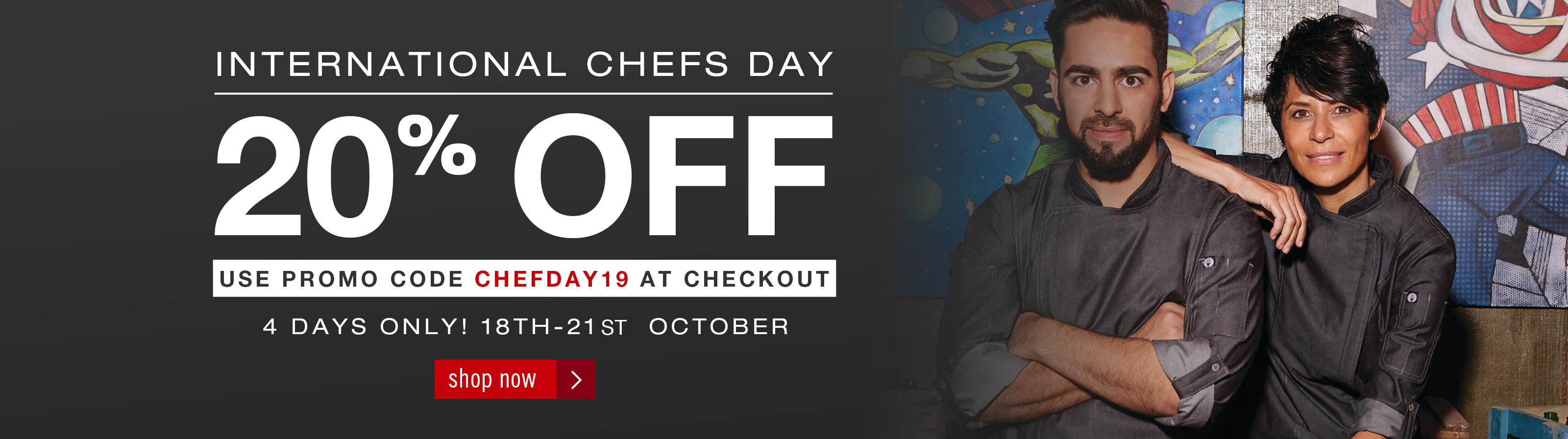 International Chefs Day 20% Off